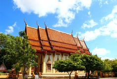 Thai Buddhism church, Phuket, Thailand Royalty Free Stock Photo