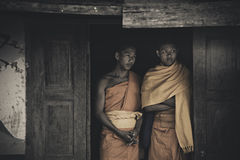 Thai Buddhism monks in peace Royalty Free Stock Image
