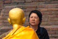 Thai buddhism pray for benefaction worship Stock Photos