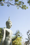 Thai buddhism statue style. In garden and blue sky background Stock Images