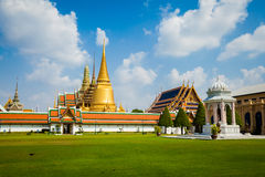 Thai buddhism temple Wat Phra Kaew Royalty Free Stock Photos