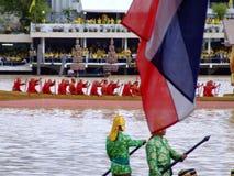 Thai Buddhist boats, Bangkok, Thailand. Stock Image