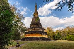 Thai Buddhist chedi Royalty Free Stock Photo