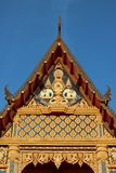 Thai Buddhist Church - front face view Stock Photography