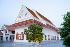 Thai Buddhist Church. In Evening time stock photo
