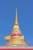 Thai Buddhist golden pagoda Stock Image