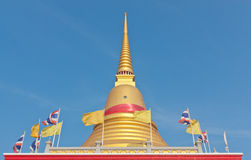 Thai Buddhist golden pagoda. Photograph from Wat Bangplee Yai Nai temple in Samutprakarn, Thailand Royalty Free Stock Photo