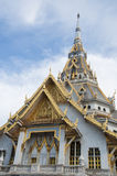 Thai Buddhist marble temple. Stock Photography