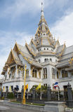 Thai Buddhist marble temple. Royalty Free Stock Photos