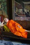 Thai buddhist monk Royalty Free Stock Photo