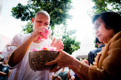 Thai Buddhist ordination ceremony Stock Images