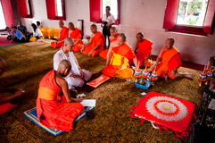 Thai Buddhist ordination ceremony Stock Photography
