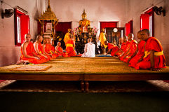Thai Buddhist ordination ceremony Stock Photo