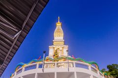 Thai Buddhist pagoda at Doi Thepnimit temple on Patong hilltop. It is the newest landmark for tourists of Phuket, Thailand. It has been built in style of Pra Royalty Free Stock Photo