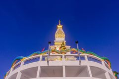 Thai Buddhist pagoda at Doi Thepnimit temple on Patong hilltop. It is the newest landmark for tourists of Phuket, Thailand. It has been built in style of Pra Stock Photos