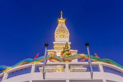 Thai Buddhist pagoda at Doi Thepnimit temple on Patong hilltop. It is the newest landmark for tourists of Phuket, Thailand. It has been built in style of Pra Royalty Free Stock Image