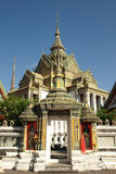 Thai Buddhist Temple. Entrance to a Buddhist temple in the Wat Po grounds in Bangkok Royalty Free Stock Photos