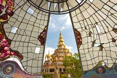 Thai buddhist temple Royalty Free Stock Photography