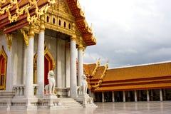 Thai Buddhist Temple. Pavilion area of Thai Buddhist temple, Bangkok, Thailand Royalty Free Stock Photo