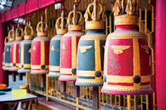 Thai Buddhist Temple Bells Royalty Free Stock Photo