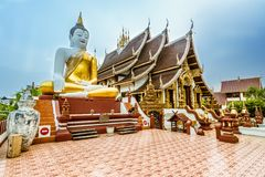 Thai Buddhist Temple in Chiang Mai,Thailand Stock Photos