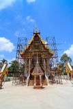 Thai buddhist temple during construction Royalty Free Stock Photos