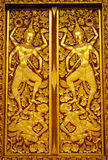 Thai Buddhist Temple Door Stock Photography