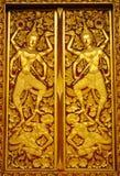 Thai Buddhist Temple Door. Ornate Thai Buddhist temple door in thailand Stock Photography