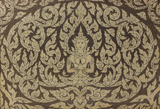 Thai Buddhist temple door decoration Stock Photography