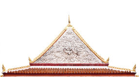 Thai Buddhist temple gable with apex Royalty Free Stock Photography