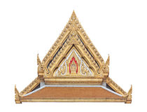 Thai Buddhist temple gable with apex Royalty Free Stock Images