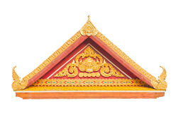 Thai Buddhist temple gable with apex Royalty Free Stock Photos