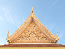 Thai Buddhist temple gable with apex Stock Image