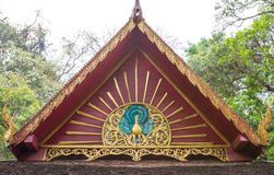 Thai Buddhist temple gable Stock Photos