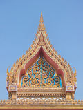 Thai Buddhist temple gate gable Royalty Free Stock Photography