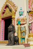 Thai Buddhist Temple Guardian Giant Suriyaphob and qilin, mythological guard statue in Thailand wat. Thai Buddhist Temple Guardian Giant Suriyaphob, mythological Royalty Free Stock Photography