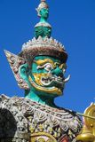 Thai Buddhist Temple Guardian Giant Suriyaphob, mythological guard statue in Thailand wat. Ancient mythological mythical magic creature in East Asian culture Royalty Free Stock Photo