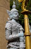 Thai Buddhist Temple Guardian Giant Suriyaphob, mythological guard statue in Thailand wat. Ancient mythological mythical magic creature in East Asian culture Royalty Free Stock Photos