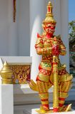 Mythological guard statue in Thailand wat. Thai Buddhist Temple , mythological guard statue in Thailand wat. Ancient mythological mythical magic creature in East Stock Photos