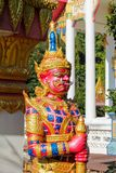 Mythological guard statue in Thailand wat. Thai Buddhist Temple , mythological guard statue in Thailand wat. Ancient mythological mythical magic creature in East Royalty Free Stock Photo