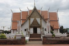Thai buddhist temple. In north of Thailand more than 100 years old Stock Photo