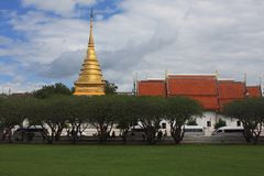 Thai buddhist temple. In north of Thailand more than 100 years old Royalty Free Stock Images