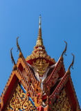 Thai buddhist temple roof Royalty Free Stock Photography