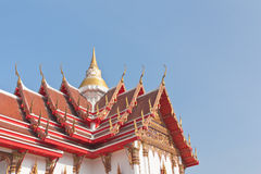 Thai Buddhist temple roof top Stock Photography