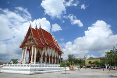Thai buddhist temple Wat Khao Lan Thom Royalty Free Stock Image
