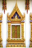 Thai Buddhist Temple Window Stock Photo