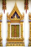 Thai Buddhist Temple Window Stock Photo