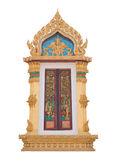 Thai Buddhist temple window sculpture Royalty Free Stock Photos