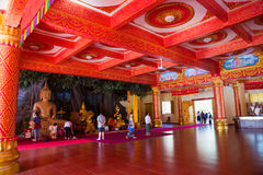 Thai Buddhist traditional palace interior Stock Image