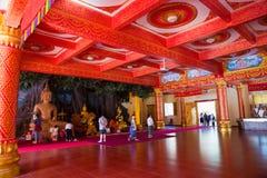 Thai Buddhist traditional palace interior Stock Image